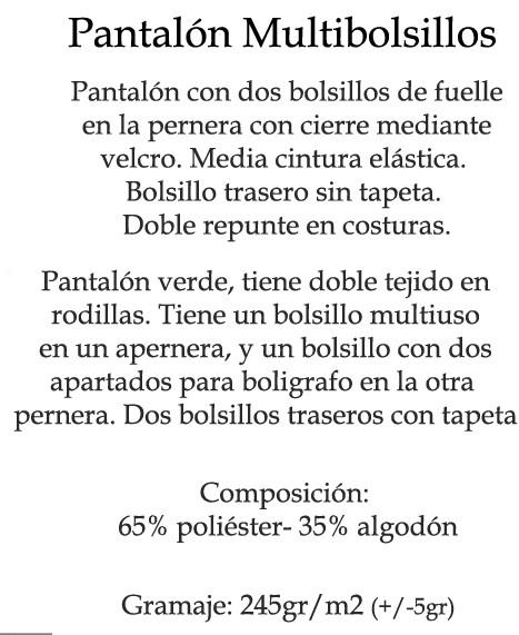PANTALON MULTIBOLSILLOS 31 SIGCAT