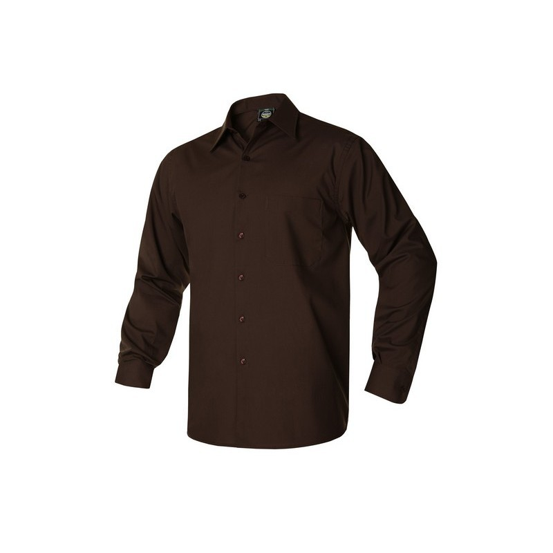 CAMISA HOMBRE ML MONZA CHOCOLATE T-8
